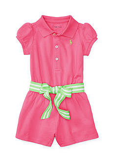 Ralph Lauren Childrenswear Stretch Polo Romper