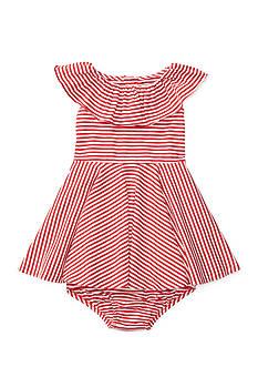 Ralph Lauren Childrenswear 2-Piece Stripe Bloomer and Dress Set