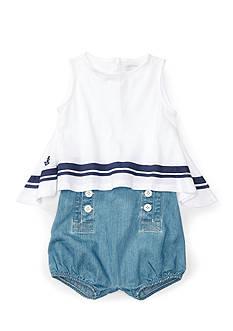 Ralph Lauren Childrenswear 2-Piece Stripe Tank and Short Set