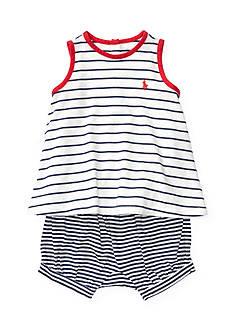 Ralph Lauren Childrenswear 2-Piece Mixed Stripe Tank and Short Set
