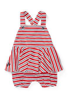 Ralph Lauren Childrenswear 2-Piece Striped Peplum Shortall