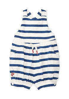 Ralph Lauren Childrenswear Striped Jersey Romper
