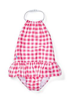 Ralph Lauren Childrenswear Gingham One-Piece Swimsuit Infant Girls