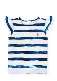 Ralph Lauren Childrenswear Cotton Flutter-Sleeve Tee