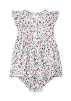Ralph Lauren Childrenswear 2-Piece Floral Dress and Bloomer Set