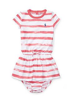 Ralph Lauren Childrenswear 2-Pieced Striped Tee Dress and Bloomer Set