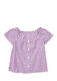 Ralph Lauren Childrenswear Bengal Stripe Top Baby Girl