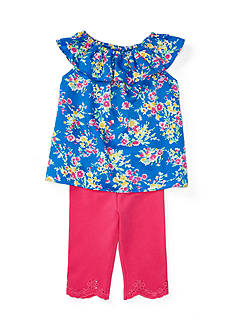 Ralph Lauren Childrenswear 2-Piece Floral Top and Legging Set