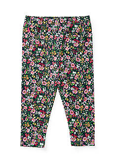 Ralph Lauren Childrenswear Cotton Jersey Floral Leggings