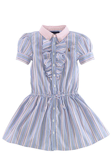 Ralph Lauren Childrenswear Preppy Oxford Shirtdress Toddler Girls