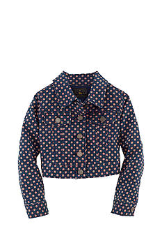 Ralph Lauren Childrenswear Foulard Print Denim Jacket Toddler Girls