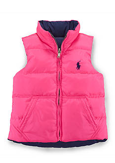 Ralph Lauren Childrenswear Reversible Down Vest Toddler Girls