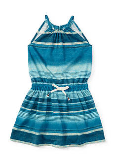 Ralph Lauren Childrenswear Jersey Strip Maxi Dress Toddler Girl