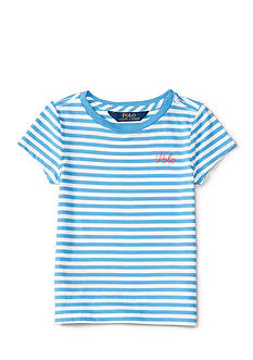 Ralph Lauren Childrenswear Short Sleeve Stripe Top Toddler Girl