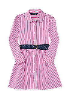 Ralph Lauren Childrenswear Striped Bengal Dress Toddler Girl