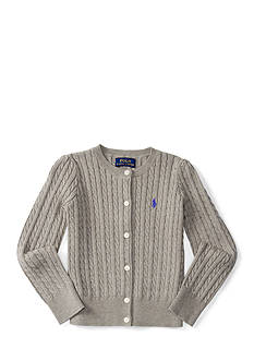 Ralph Lauren Childrenswear Cotton Mini Cable-Knit Cardigan Toddler Girls