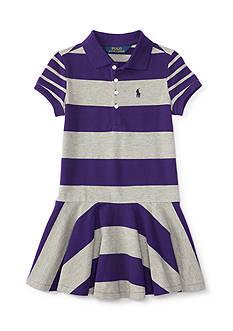 Ralph Lauren Childrenswear Stretch Mix and Match Dress - Toddler Girl