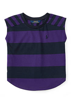 Ralph Lauren Childrenswear Striped Jersey Tee Toddler Girls