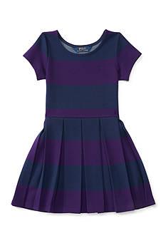 Ralph Lauren Childrenswear Striped Ponte Dress Toddler Girl