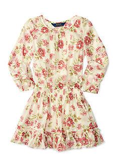 Ralph Lauren Childrenswear Chiffon Floral Dress Toddler Girl