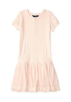 Ralph Lauren Childrenswear Woven Henley Dress Toddler Girl
