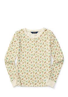 Ralph Lauren Childrenswear Floral Henley Top Toddler Girl