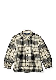 Ralph Lauren Childrenswear Plaid Pintuck Top Toddler Girls
