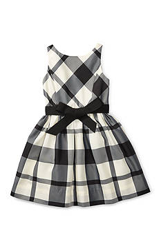 Plaid Taffeta Dress Toddler Girls