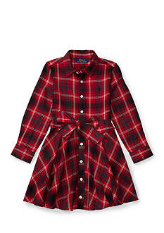Ralph Lauren Childrenswear Flannel Shirt Dress Toddler Girls