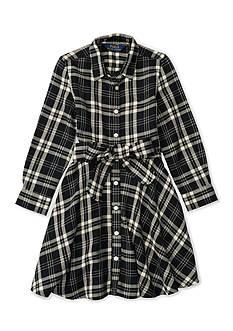 Ralph Lauren Childrenswear Flannel Shirt Dress Toddler Girls
