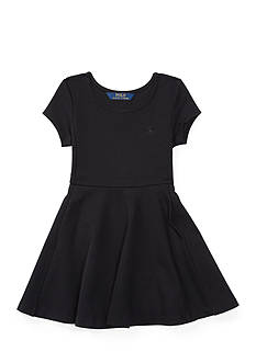 Ralph Lauren Childrenswear Ponte Dress Toddler Girls