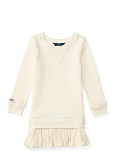 Ralph Lauren Childrenswear Ruffled-Hem Fleece Dress Toddler Girls