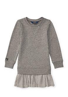 Ralph Lauren Childrenswear Ruffled-Hem Fleece Dress Toddler Girl
