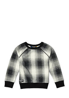 Ralph Lauren Childrenswear Plaid Fleece Top Toddler Girls