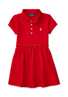 Ralph Lauren Childrenswear Polo Dress with Ribbon Toddler Girls