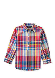 Ralph Lauren Childrenswear Plaid Cotton Poplin Popover Toddler Girls