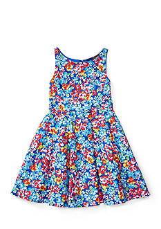 Ralph Lauren Childrenswear Floral Fit-and-Flare Dress Toddler Girls