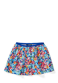 Ralph Lauren Childrenswear Floral Twill Pull-On Skirt Toddler Girl