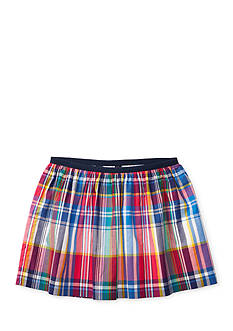 Ralph Lauren Childrenswear Plaid Poplin Pull-On Skirt Toddler Girl
