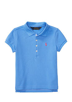 Ralph Lauren Childrenswear Stretch Mesh Short Sleeve Polo Toddler Girls
