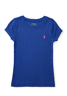 Ralph Lauren Childrenswear Pima-Blend Short-Sleeve Tee Toddler Girls
