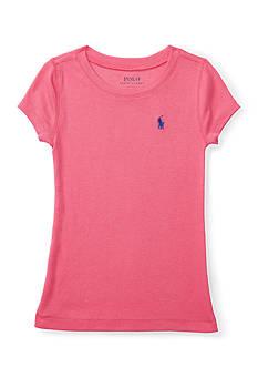 Ralph Lauren Childrenswear Pima-Blend Short-Sleeve Tee Toddler Girls