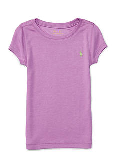 Ralph Lauren Childrenswear Pima Cotton Short Sleeve Crew Top Toddler Girls