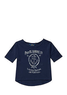 Ralph Lauren Childrenswear Graphic Knitted Tee Toddler Girls