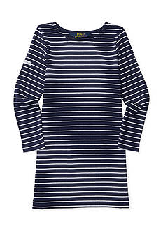 Ralph Lauren Childrenswear Striped Ponte Dress Toddler Girls