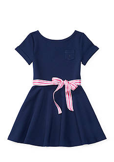 Ralph Lauren Childrenswear Ponte Fit-and-Flare Dress Toddler Girls