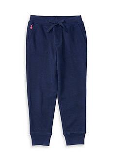Ralph Lauren Childrenswear Cotton-Blend-Fleece Jogger Toddler Girls