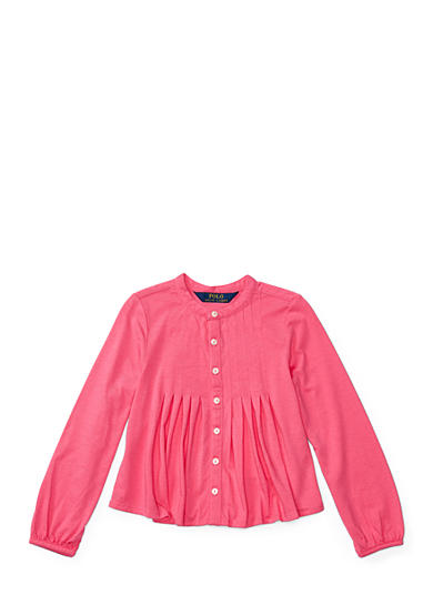 Ralph Lauren Childrenswear Pleated Jersey Shirt Toddler Girls