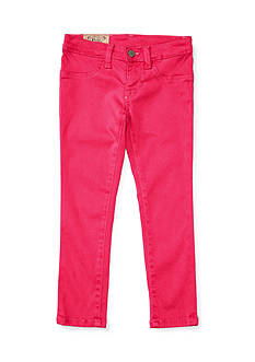 Ralph Lauren Childrenswear Aubrie Denim Legging Toddler Girls