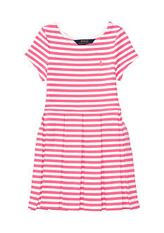 Ralph Lauren Childrenswear Ponte Stripe Dress Toddler Girls